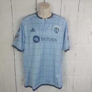 Adidas Sporting Kansas City MLS Soccer Jersey